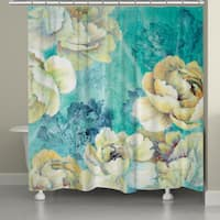 Laural Home Bright Florals Shower Curtain