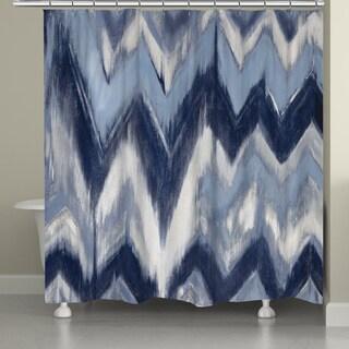 Laural Home Blue Chevron Shower Curtain