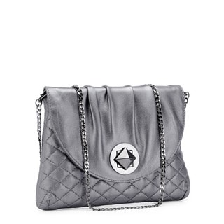 Jasbir Gill JG-202 Grey Leather Clutch (India)