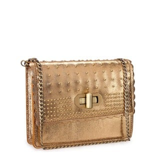 Jasbir Gill JG-203 Gold Leather Clutch (India)