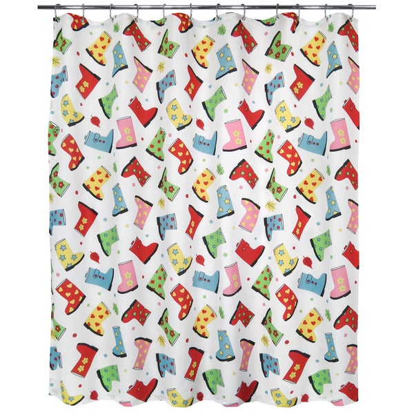 Park B. Smith Favorite Boots Watershed Shower Curtain