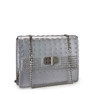 Jasbir Gill JG-204 Silver Leather Clutch (India)