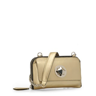 Jasbir Gill JG-218 Gold Leather Clutch (India)