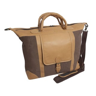 Canyon Outback Titus Canyon 18-inch Leather and Canvas Duffel Bag