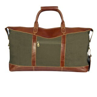 Canyon Outback Pine Canyon 22-inch Leather and Canvas Duffel Bag
