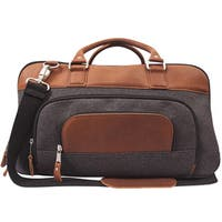 Canyon Outback Brody 18-inch wide Wool and Leather Duffel Bag