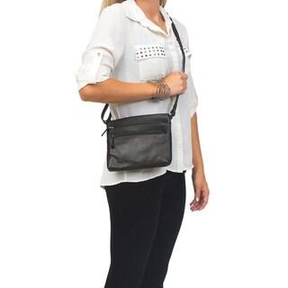 Canyon Outback Leather Oak Creek Canyon Leather Crossbody Messenger Bag