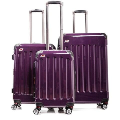 Andare Barcelona Expandable Hardside Spinner 3-piece Luggage Set