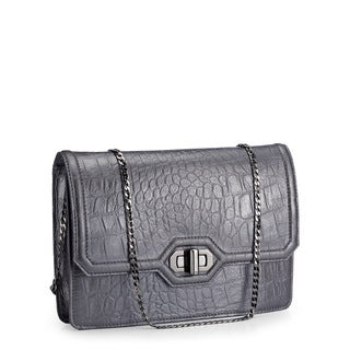 Jasbir Gill JG-214 Grey Leather Clutch (India)
