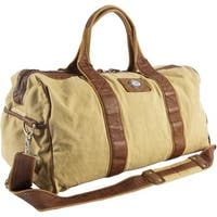 Canyon Outback Urban Edge Mason 21-inch Canvas and Leather Duffel Bag