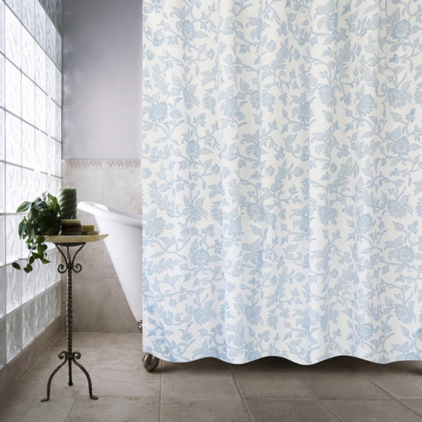 Park B. Smith Floral Swirl Watershed Shower Curtain