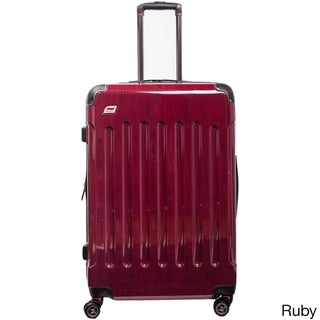 Andare Barcelona 28-inch Expandable Hardside Spinner Upright Suitcase (Option: Red)