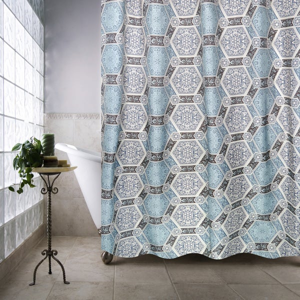 Park B. Smith Renaissance Tiles Watershed Shower Curtain