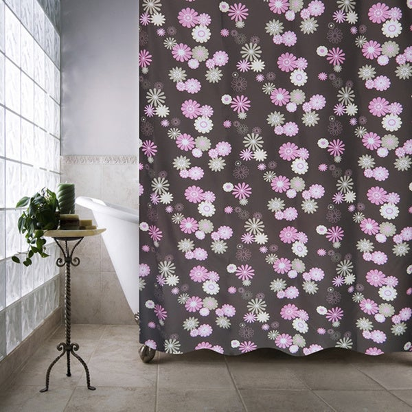 Park B. Smith Starburst Floral Watershed Shower Curtain