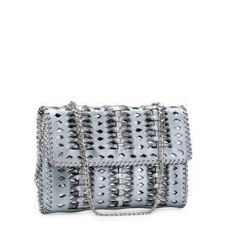 Jasbir Gill JG-211 Silver Leather Clutch (India)