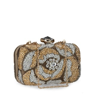 Jasbir Gill JG-222 Gold Leather Clutch (India)