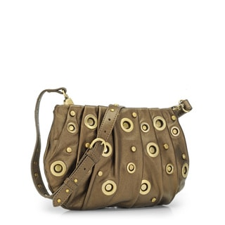 Jasbir Gill JG-243 Gold Leather Clutch (India)