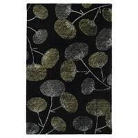 Hand-Tufted Mi Casa Black Floral Rug - 8' x 10'