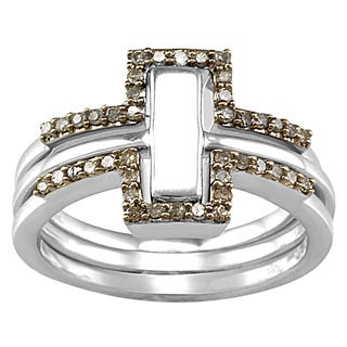 Sterling Silver 1/4ct TDW Brown Diamond Stack Ring (I2-I3)