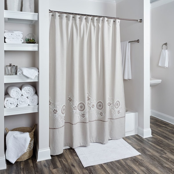 Full Bloom Collection Shower Curtain by Rizzy Home