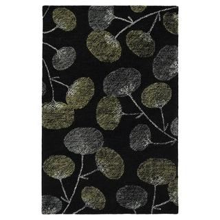 Hand-Tufted Mi Casa Black Floral Rug (9' x 12')