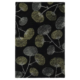 Hand-Tufted Mi Casa Black Floral Rug - 2' x 3'