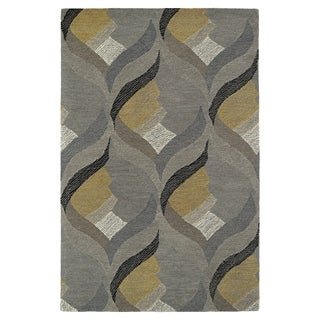 Hand-Tufted Mi Casa Grey Waves Rug (9' x 12')