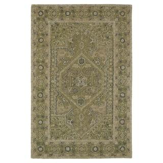 Hand-Tufted Mi Casa Green Heriz Rug (9' x 12')