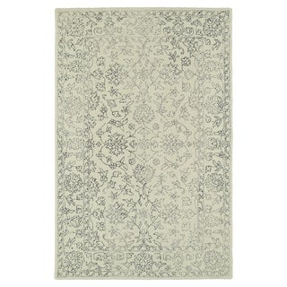 Hand-Tufted Mi Casa Ivory Distressed Traditional Rug (3'6 x 5'6)