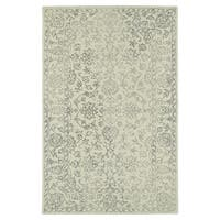 Hand-Tufted Mi Casa Ivory Distressed Traditional Rug - 3'6 x 5'6