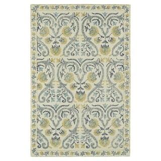 """Hand-Tufted Mi Casa Ivory Garden Rug (3'6 x 5'6) - 3'6"""" x 5'6"""""""