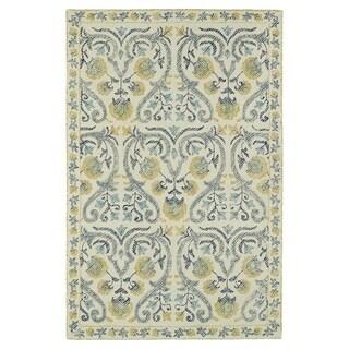 Hand-Tufted Mi Casa Ivory Garden Rug (3'6 x 5'6)