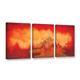 ArtWall 'Shadia Zayed's From The Valley' 3 Piece Gallery Wrapped Canvas Set