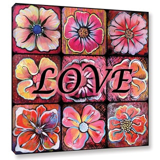 ArtWall 'Shadia Zayed's Flower Power' Gallery Wrapped Canvas