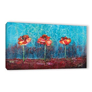 ArtWall 'Shadia Zayed's Three Poppies' Gallery Wrapped Canvas