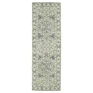 """Hand-Tufted Mi Casa Ivory Heriz Rug (2'6 x 8') - 2'6"""" x 8'"""