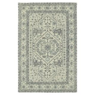 Hand-Tufted Mi Casa Ivory Heriz Rug (5' x 7'9)