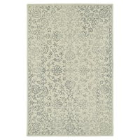 Hand-Tufted Mi Casa Ivory Distressed Traditional Rug - 5' x 7'9""