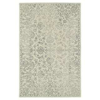 Hand-Tufted Mi Casa Ivory Distressed Traditional Rug (9' x 12')