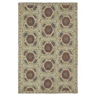 Hand-Tufted Mi Casa Camel Suzani Rug (3'6 x 5'6)
