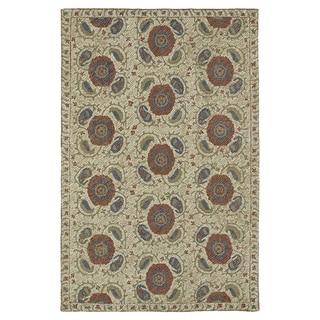 Hand-Tufted Mi Casa Camel Suzani Rug (2' x 3')