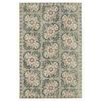 Hand-Tufted Mi Casa Grey Suzani Rug (8' x 10')