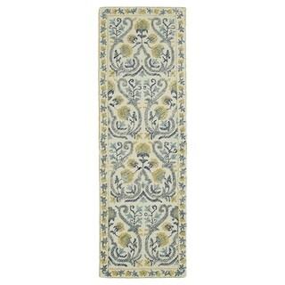 Hand-Tufted Mi Casa Ivory Garden Rug (2'6 x 8')