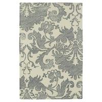 Hand-Tufted Mi Casa Grey Damask Rug - 9' x 12'