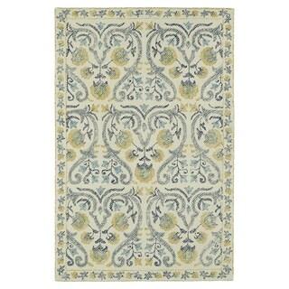 Hand-Tufted Mi Casa Ivory Garden Rug (8' x 10')