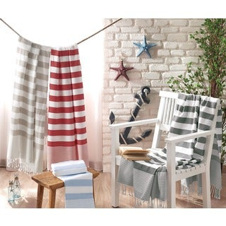 Brielle Stripes Pestemal Turkish Beach Towel (3 options available)