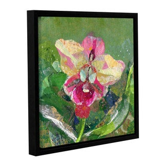 ArtWall 'Shadia Zayed's Dancing Orchids I' Gallery Wrapped Floater-framed Canvas