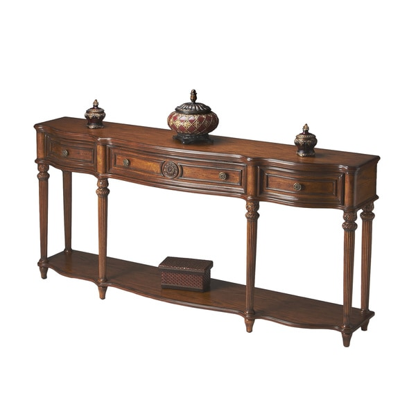 Handmade Butler Peyton Vintage Oak Console Table (China)