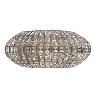 Crystorama Solstice Collection 2-light Antique Silver Wall Sconce