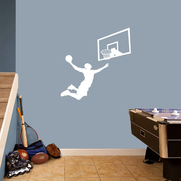 Basketball Slam Dunk Set' Medium Wall Decals